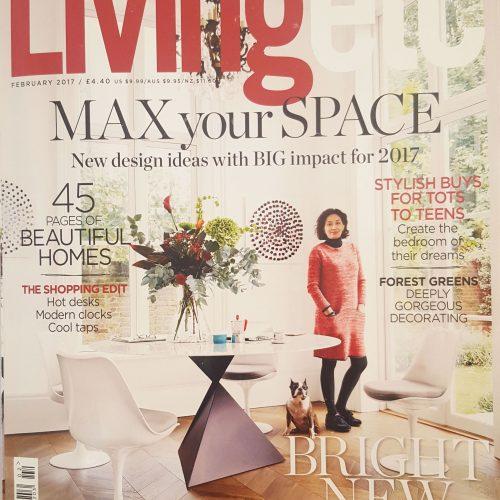 Living Etc Feb 2017 cover in portfolio of www.noncinyoni.com