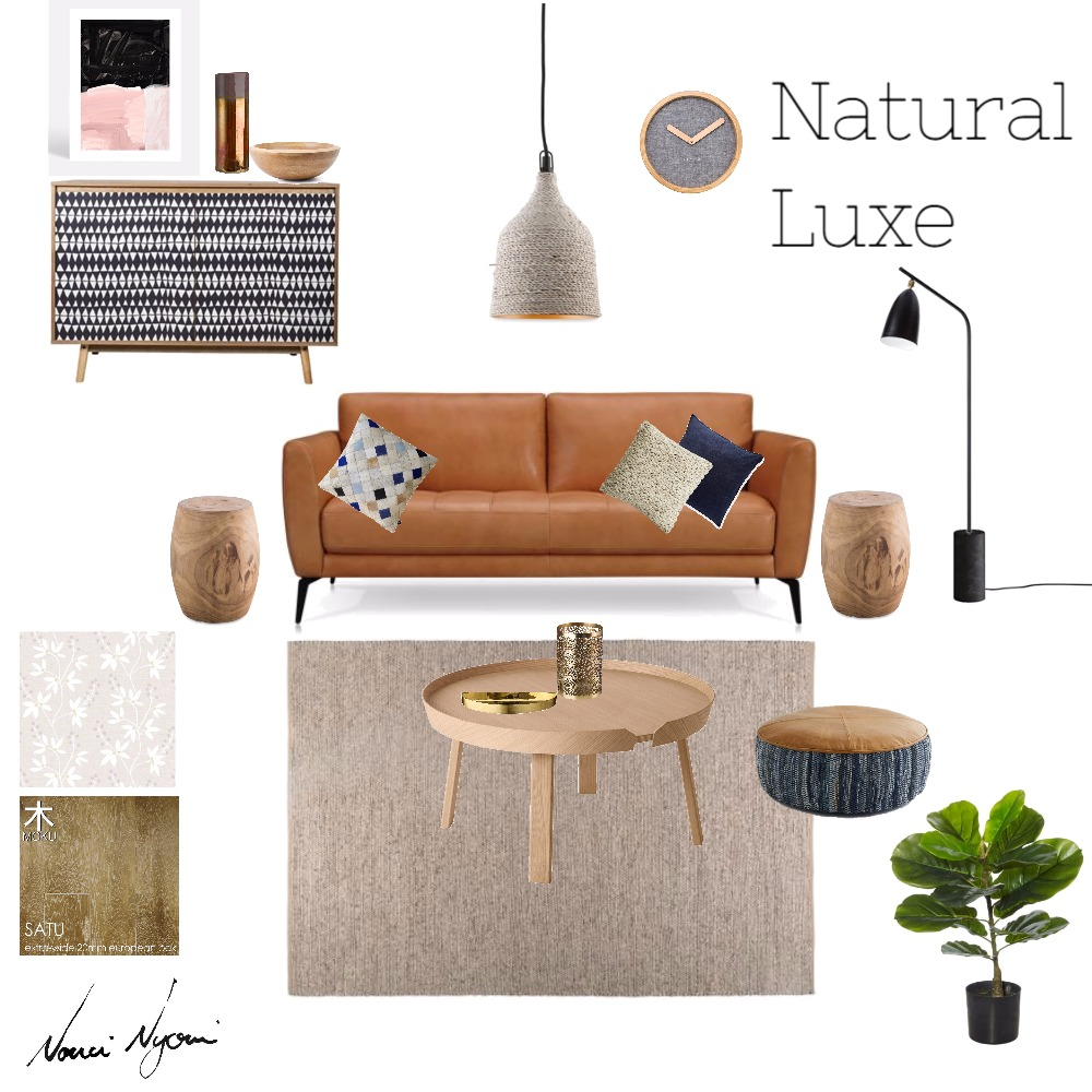 Natural Luxe mood board created on Style Sourcebook by Nonci Nyoni
