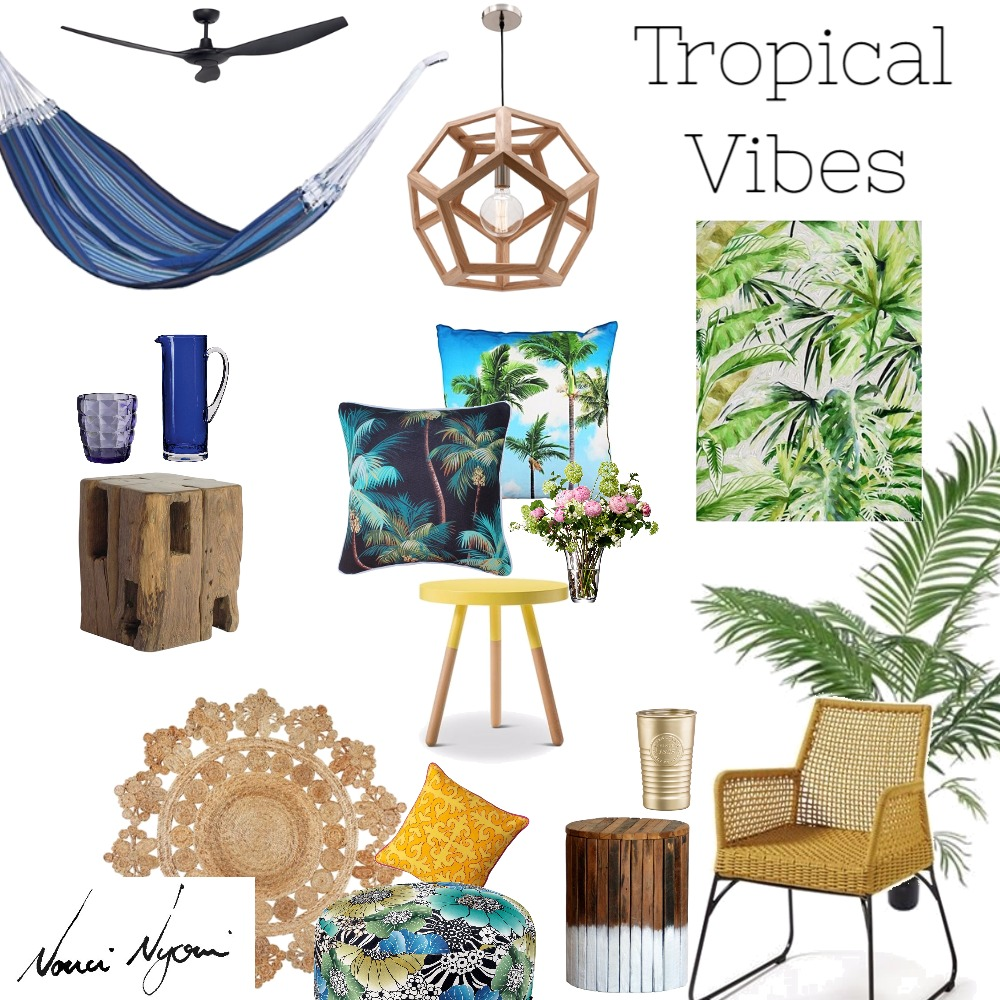 Tropical Vibes Style Sourcebook Mood board by Nonci Nyoni